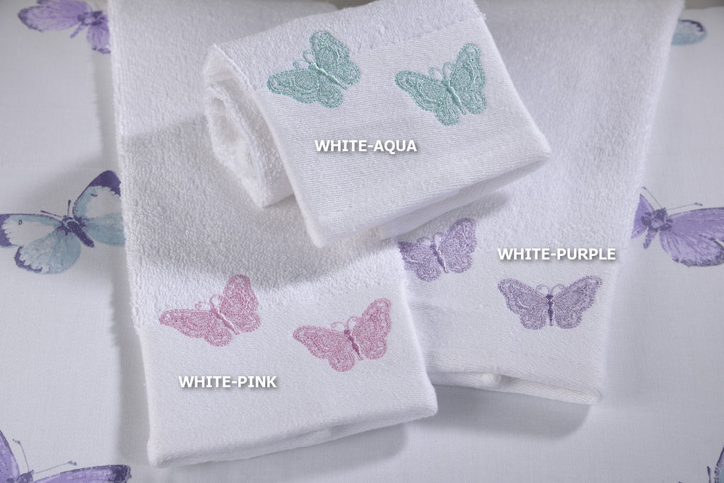 Πετσέτα Χεριών Butterfly White/Purple image